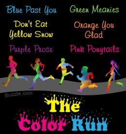color run team names the color run team names and names on