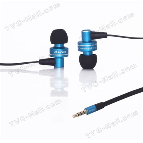 Awei Esq38i Bass In Ear Earphone With 1 2m Cable Mic awei bass in ear headphones with mic for iphone 4s 4 3gs es900i black blue tvc mall