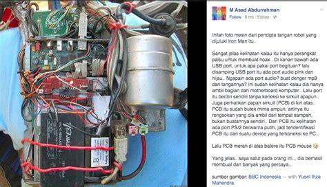 cara membuat tangan robot iron man netizen pastikan tangan robot quot iron man quot dari bali adalah hoax