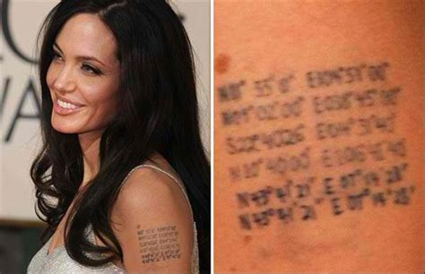 angelina jolie tattoo latitude longitude angelina jolie tattoos coordinates tattoo models
