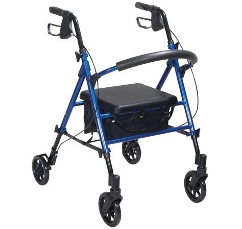drive 4 wheel walker with seat drive rollator with height adjustable seat ebay