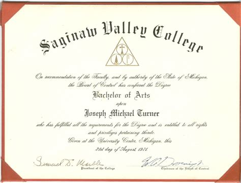 image gallery degree certificate