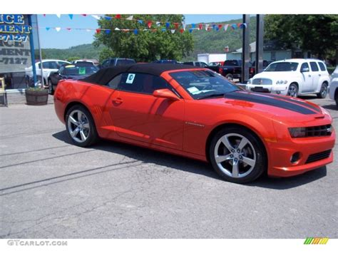 Must Colours For Ss 2011 by 2011 Inferno Orange Metallic Chevrolet Camaro Ss Rs
