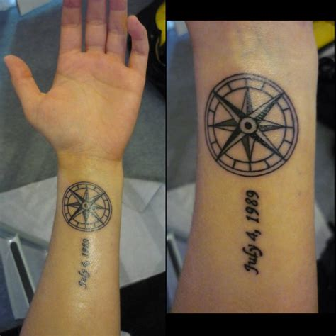 compass tattoos and designs page 24