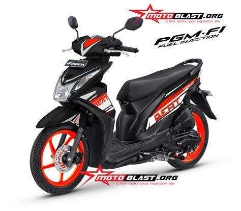 Striping Honda Beat Fi Mc Laren Putih modif decal design honda beat fi black orange ceria