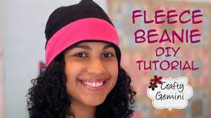 fleece beanie hat diy tutorial youtube
