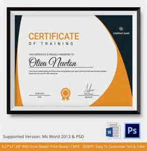 Downloadable Certificate Template by Certificate Template 21 Free Word Pdf Psd