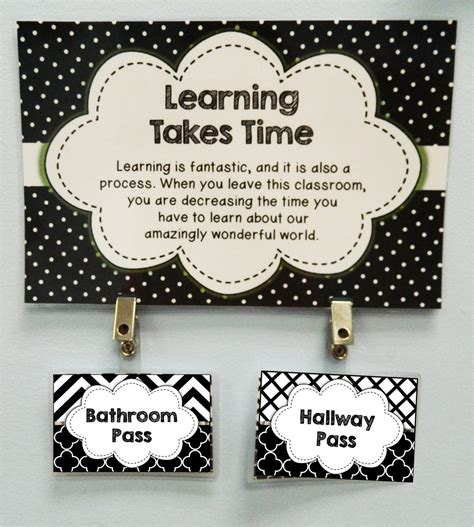 classroom bathroom passes the bathroom pass 5th grade the brown bag teacher