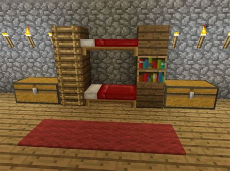 how to make a bunk bed in minecraft best 25 minecraft furniture ideas on pinterest minecraft ideas minecraft and