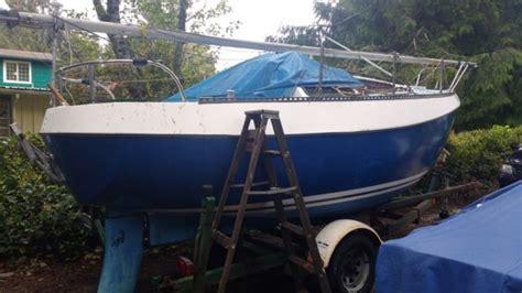 largest swing keel sailboat northwest 21 sailboat trailer ready to cruise loaded