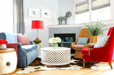 Small Armchairs For Living Room Design Ideas How To Decorate With Mismatched Furniture Hgtv