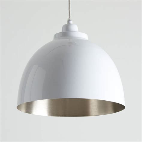 Nickel Pendant Light White And Nickel Pendant Light By Horsfall Wright Notonthehighstreet