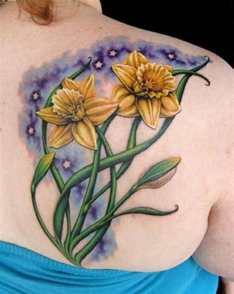 lovely daffodil tattoo birth flower for march tattoo