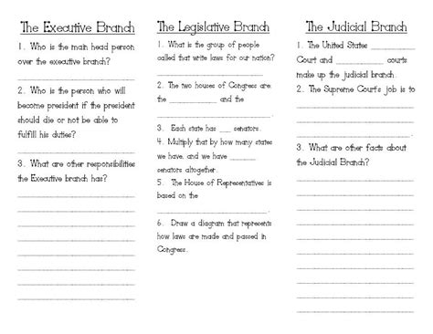 3 Branches Of Government Worksheet by Oceans Of Teaching Ideas Three Branches Of Government