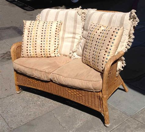 cushions for wicker settee uhuru furniture collectibles sold wicker settee with