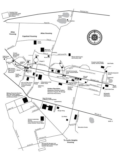 F.E. Warren Air Force Base ? 90th Force Support Squadron: Map