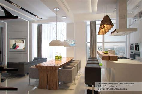 Modern Kitchen And Dining Room Design Studio Apartment Architected By Ola Kataevskaj Keribrownhomes