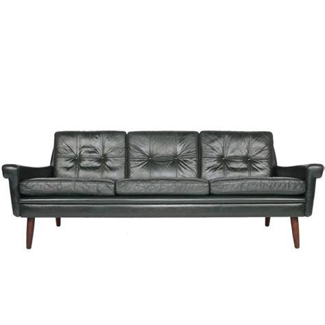 dark green leather sofa svend skipper dark green leather sofa at 1stdibs