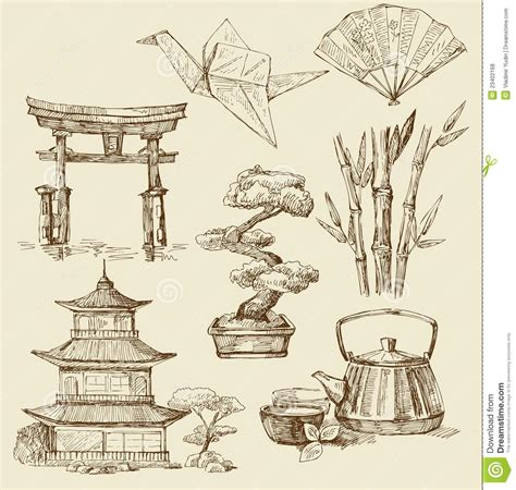 Japan Design by Japan Design Elements Stock Vector Illustration Of Paper