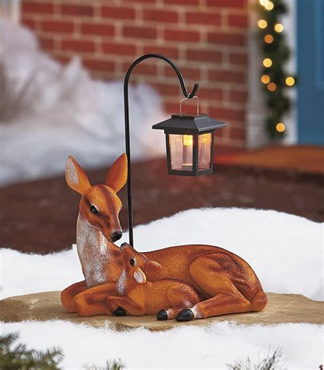 Deer Family Statue Solar Light Up Outdoors Home Decor Yard Outdoor Deer With Lights