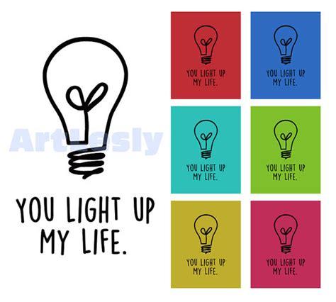 you light up digital printable wall