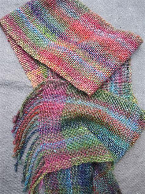 ravelry yarndebs cricket scarf  noro yarn weaving