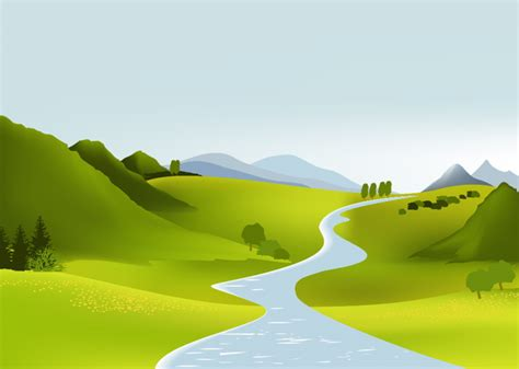 Landscape Illustration Free Vector Illustration Landscape The