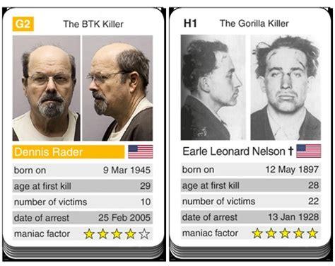 serial killer cards card notorious serial killers dennis rader versus
