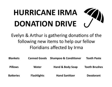 hurricane irma donations hurricane irma donation drive promenade at bonita bay