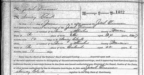 Pennsylvania Marriage Records 1800s My Ancestors And Me The Puzzle Of Jacob Froman S Marriage