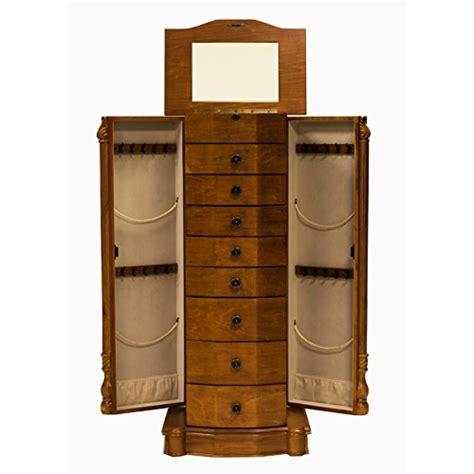 tall oak jewelry armoire beautiful roman honey oak classic tall floor standing