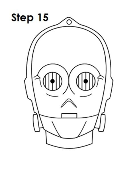 how to draw c 3po