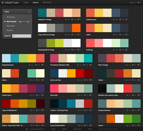 web color palette bildergebnis f 252 r colour palette homepage color