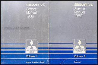 car repair manual download 1989 mitsubishi sigma electronic valve timing 1989 mitsubishi sigma v6 repair shop manual set original