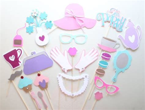 free printable tea party photo booth props 25 best ideas about party photo booths on pinterest