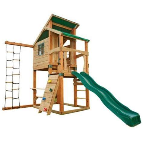 swing n slide playsets hideaway clubhouse playset pb 8129