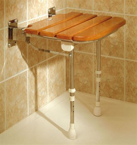 wooden shower stool nz fold up wooden slatted seat with legs shower seats wall