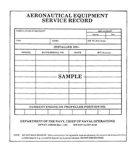 Service Records Forms