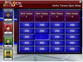 verb tenses jeopardy efl