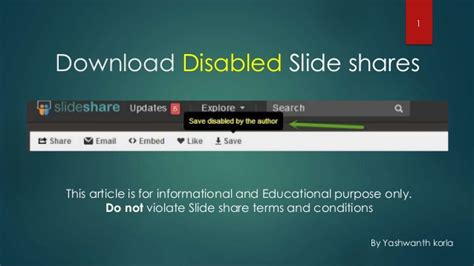 pattern allowances slideshare how to download slideshare ppts which are disabled by the