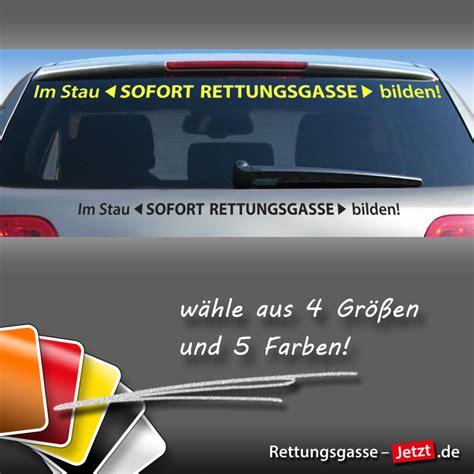 Aufkleber Rettungsgasse by Schriftzug Im Stau Sofort Rettungsgasse Bilden