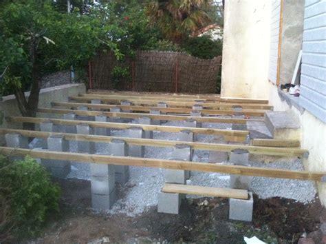 Construire Terrasse Bois Sur Pilotis by Realiser Une Terrasse Sur Pilotis 21093 Sprint Co