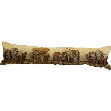 Decorative Door Draft Guard - tapestry style animals fabric draught excluder door stop