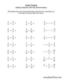 Common Denominator Worksheets 4th Grade by 4th Grade Adding Fractions With The Same Denominator