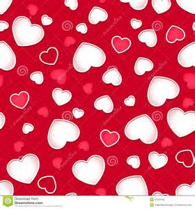 cute hearts seamless pattern with a red background stock