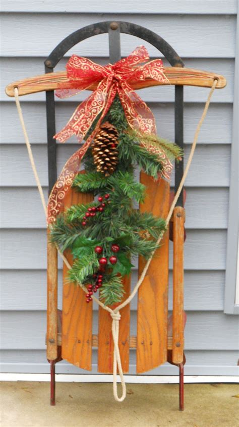 Sled Decoration by Sled And Winter Decorations