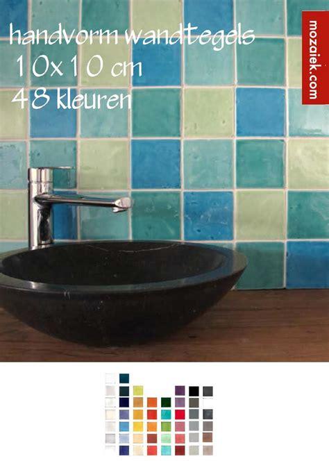 gekleurde wandtegels keuken mozaiek handvorm wandtegels keuken badkamer en keukens