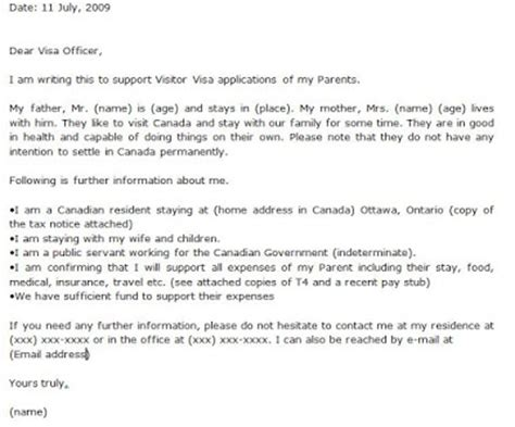 Invitation Letter For Mexican Visa Immigration Expert Information Letter Of Invitation For Canada Visit Visa And Canada Visit Visa