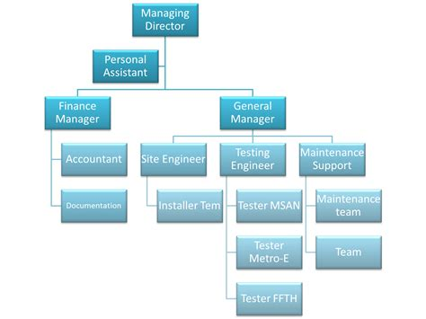 organizational diagrams business network structure diagram information technology