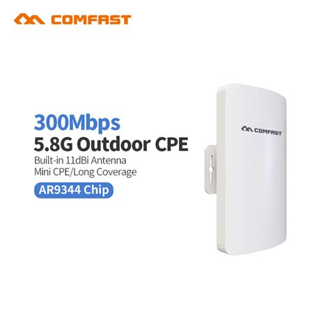 Wifi Outdoor new comfast cf e120a mini 300mbps 5 8g wireless cpe wifi router outdoor wifi repeater 11dbi